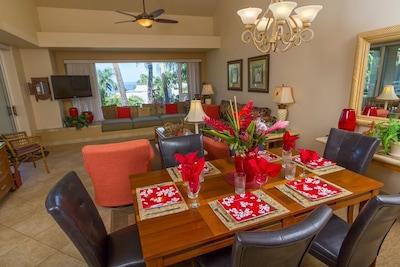 Largest of the 2 bedroom models in The Palms. Ocean Views  Luxury remodel