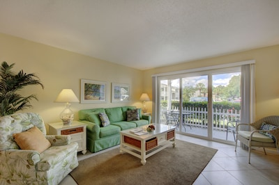 Spacious living and tv room