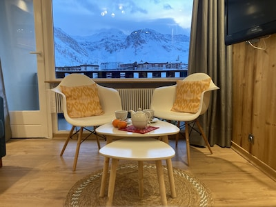 Location Tignes Lavachet Résidence 2100 A - vue sur glacier  de la Grande Motte
