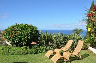 Garten mit Atlantikblick