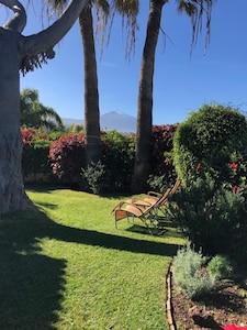 Gartenblick auf den Teide