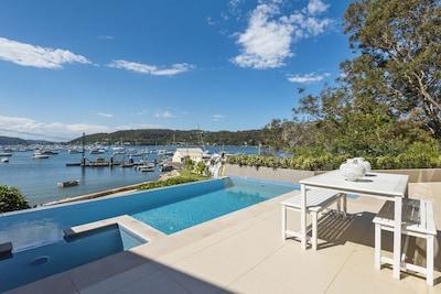 Avalon Careel Bay Waterfront 3B 2Bt duplex large Deck exclusiv use Infinity Pool