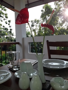 Up front Balcony a specious open air space where you can dine & relax.