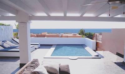 superbe maison avec une vue incroyable sur la mer crique de sable a 450 m
