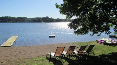 Relax in the sun at the private beach at Pine Valley Retreat
