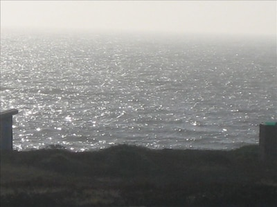 View of ocean at Dillon Beach from the deck