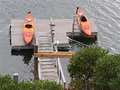Swim, kayak, fish ! Kayaks shown NOT PROVIDED. Float in through April 15-Oct 31