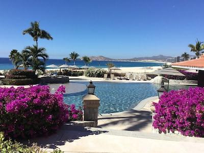 Main pool overlooking ocean