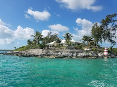View of the Cay from the boat