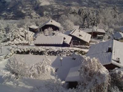 Vue du balcon sur le village