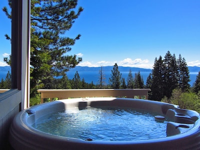 Lovely views of the Lake from our hot tub on the deck!