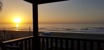 Sunrise from the porch!!  Good Morning! Another beautiful beach day!