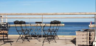 Terrasse front de mer