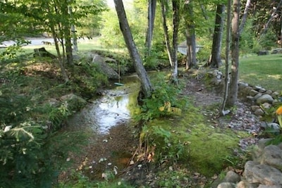 .Peaceful running brook thru the front from Hurricane Mt