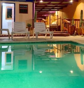 Beautiful pool shot at night
