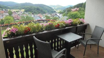 Balkon Blick  www.heppsburg.de