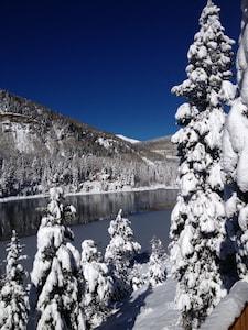 Winter Wonderland view from upper deck.  Looking at Purgatory Ski resort.