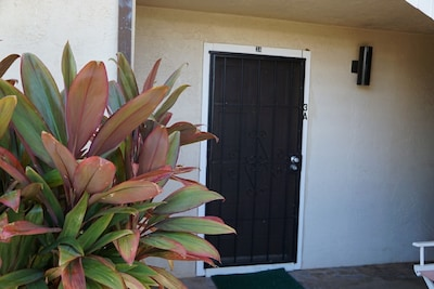 Entrance into your ground floor condo