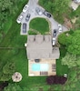 Aerial view of our home.