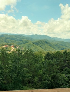 View from the deck of the Smoky Mountains