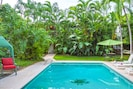 Beautiful tropical setting - say hello to the turtle in the pool!