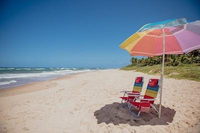 GUARAJUBA, BEIRA DA PRAIA, PÉ NA AREIA SUMMER HOUSE, FLAT TÉRREO