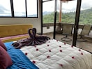 Your beautiful bedroom with Volcano and jungle views.