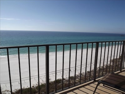 Beach view from the balcony.