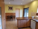 Spacious kitchen and dining area that includes all the basics you need.
