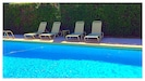 Relax by the pool or swim laps in this large pool