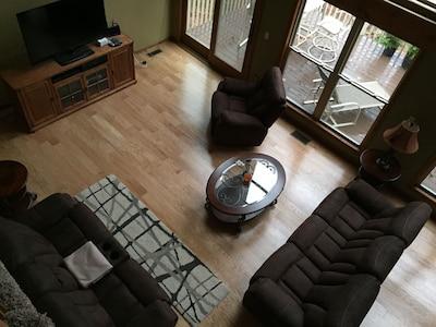 New hardwood flooring on main level
