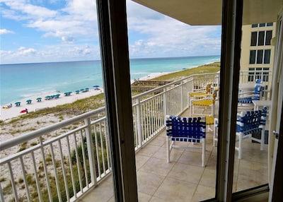 Wrap around balcony with awesome Gulf view