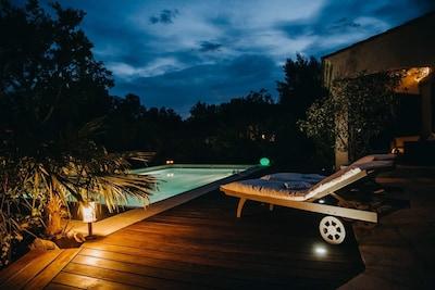 Terrasse Sud - Une soirée à la cigale www.lacigalemaisondecharme.com
