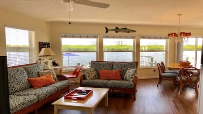 Open floor plan with water views from every window