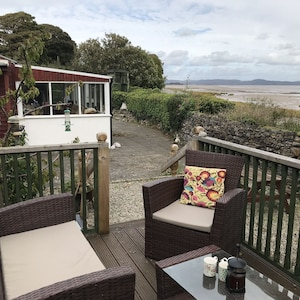 Looking out over Morecambe Bay from the elevated decking