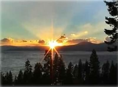 North Tahoe Sunset photo taken from Sunset Chalet