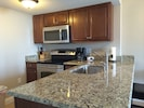 Fully stock kitchen with all updated appliances and beautiful granite 1/2016