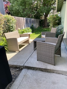 Cool Serene Backyard Patio and BBQ