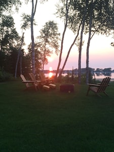 Sunset at the fire pit