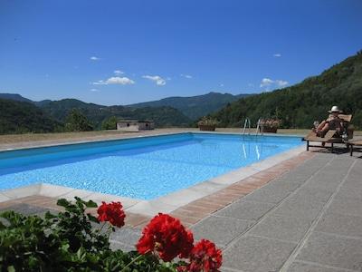 Private swimming pool 11.5m x 5m.