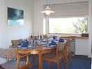 Dining Room Holds six to eight seats