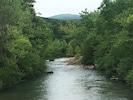 Taken from bridge, view   upstream  of Cucumber  Creek