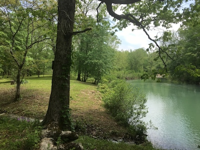 Wet creek meets  Big Eagle named for the Eagles  that seasonally  nest along it.