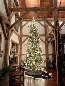 You & your guests will be in awe with this 12' tree in your guest house!