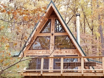 Enjoy 360 degree views of the wooded GW National Forest from your perch at Santi's Lost Stream Cabin.