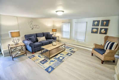 Large Living Room includes a Queen Sofa Bed and Fireplace
