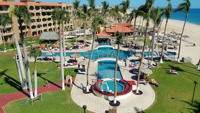 The beautiful Coral Baja oceanfront resort with all the amenities.