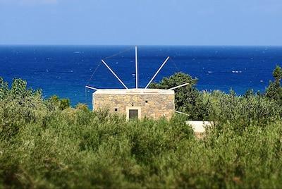 Windmill vue à la mer