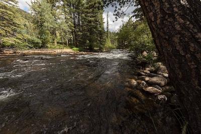 Summertime along the Big Thompson River at Aspen Brook