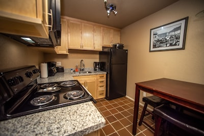 Stove, Fridge, Coffee maker(s), dishwasher, & convection oven, toaster